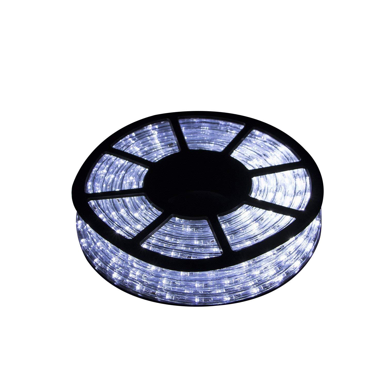 Ainfox LED Rope Light, 50Ft Indoor Outdoor Decorative Lighting LED Strip Light Kit(Cool White)