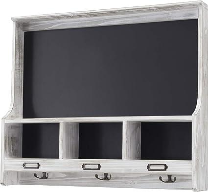 Amazon.com: Estante de madera gris para colgar en la pared ...