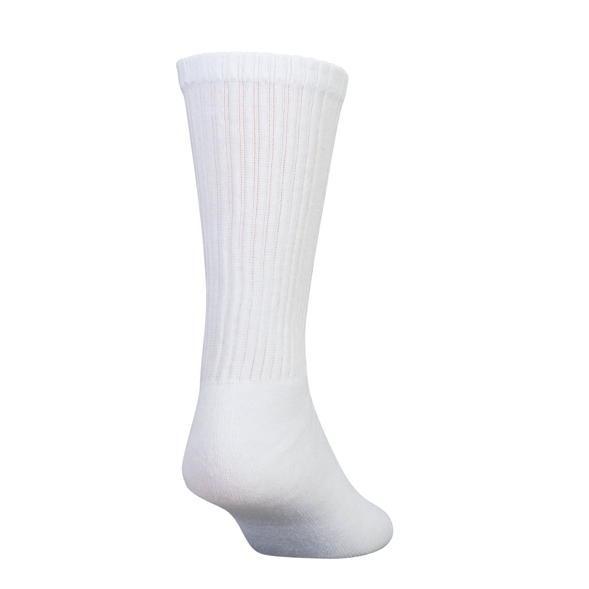 Gold Toe Men s Cotton Crew Athletic Sock, White 10-13, 2 PK (Total 12)