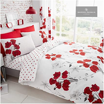 Cotton /& Poly 4pcs Complete Set Duvet Cover with Fitted Valance and Pillow Case