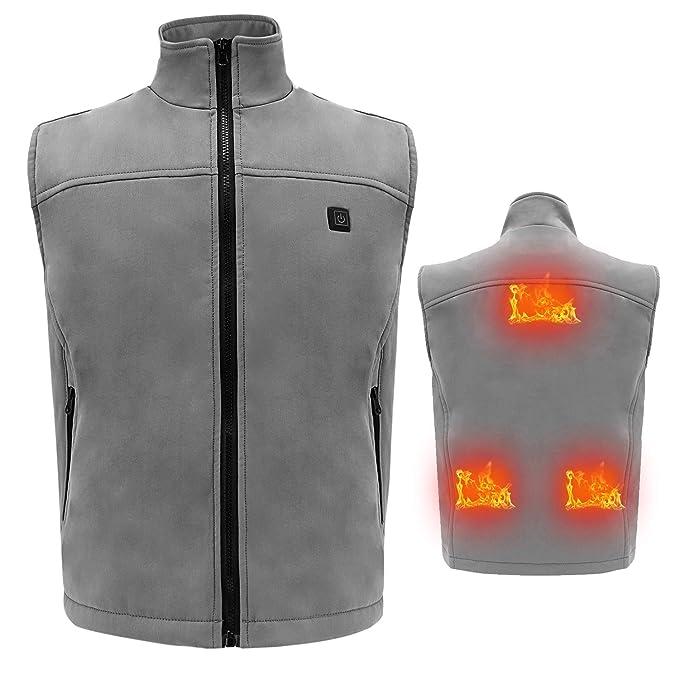 Vinmori Chaleco Térmico, Tamaño Lavable, Calentador de Cuerpo Ajustable con Calefacción por USB: Amazon.es: Ropa y accesorios