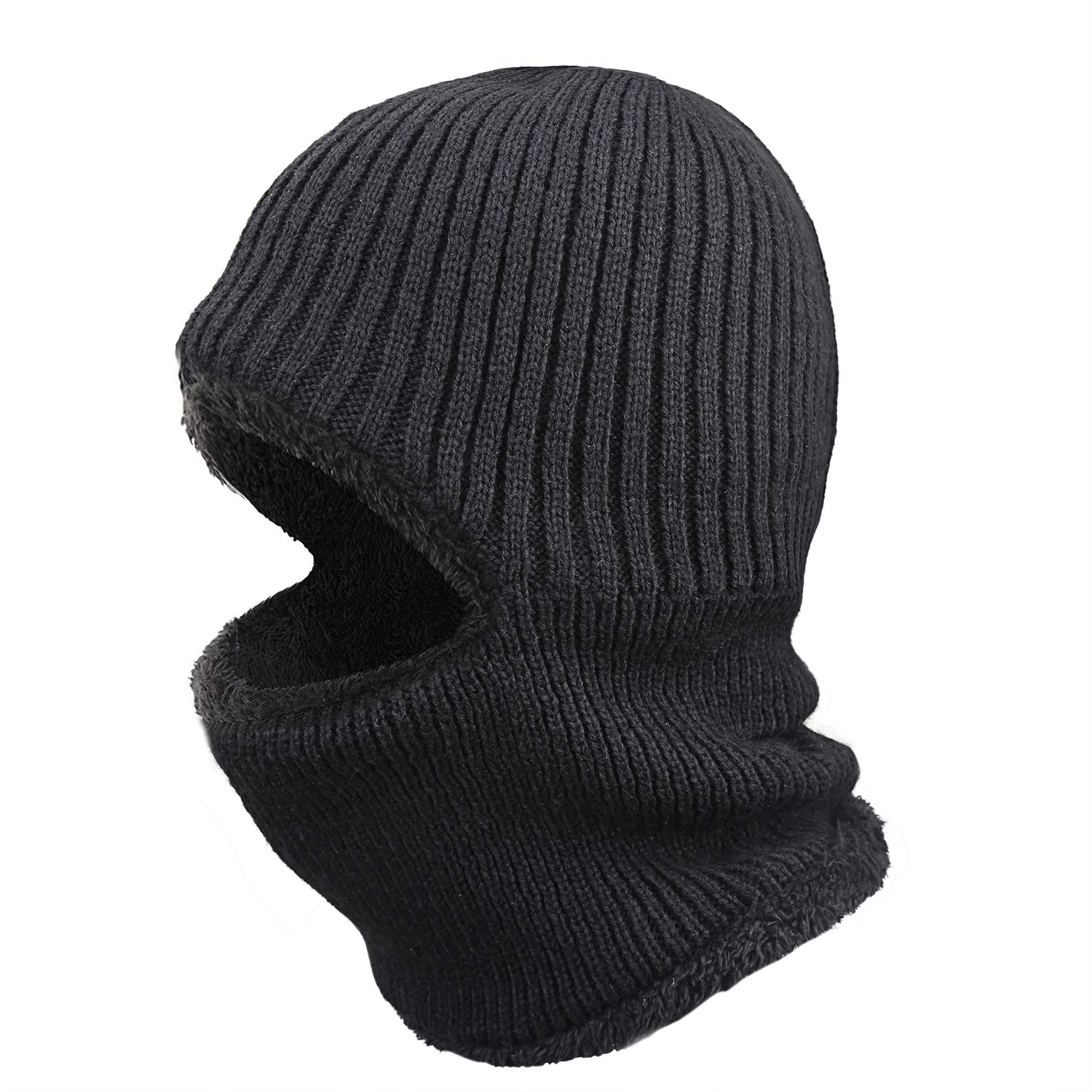 Muuttaa Warm Knitted Balaclava Beanie Hat, 3-in-1Windproof Ski Face Mask Winter Hats
