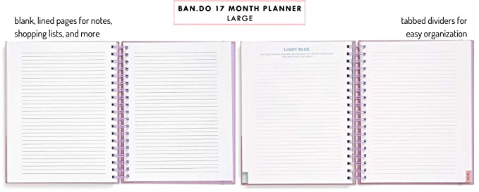 Amazon.com : Ban.do 17 Month 2019-2020 Large Daily Planner ...