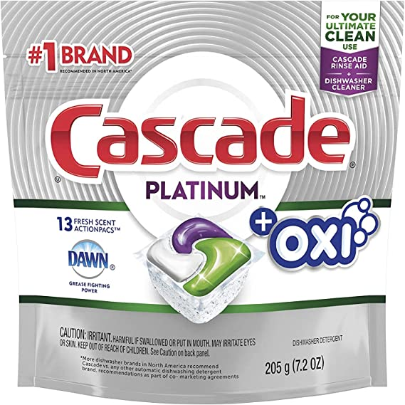 Cascade Platinum ActionPacs Dishwasher Detergent with the Power of Clorox Fresh Scent
