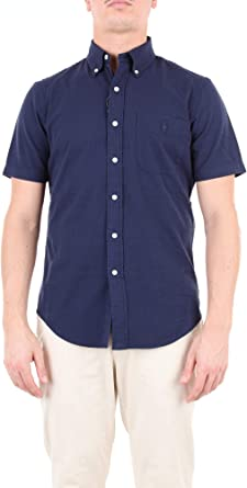 Polo Ralph Lauren Mod. 710744866 Camisa Seersucker Hombre Azul S: Amazon.es: Ropa y accesorios