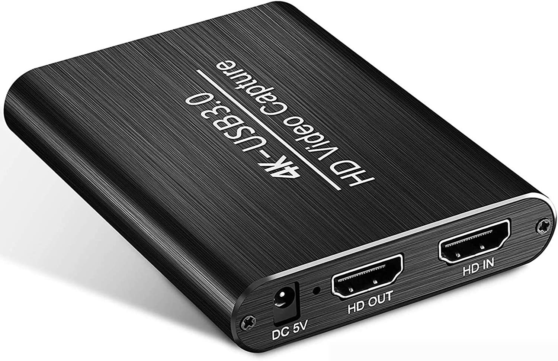 Eituesy キャプチャーボード 4K HDMI