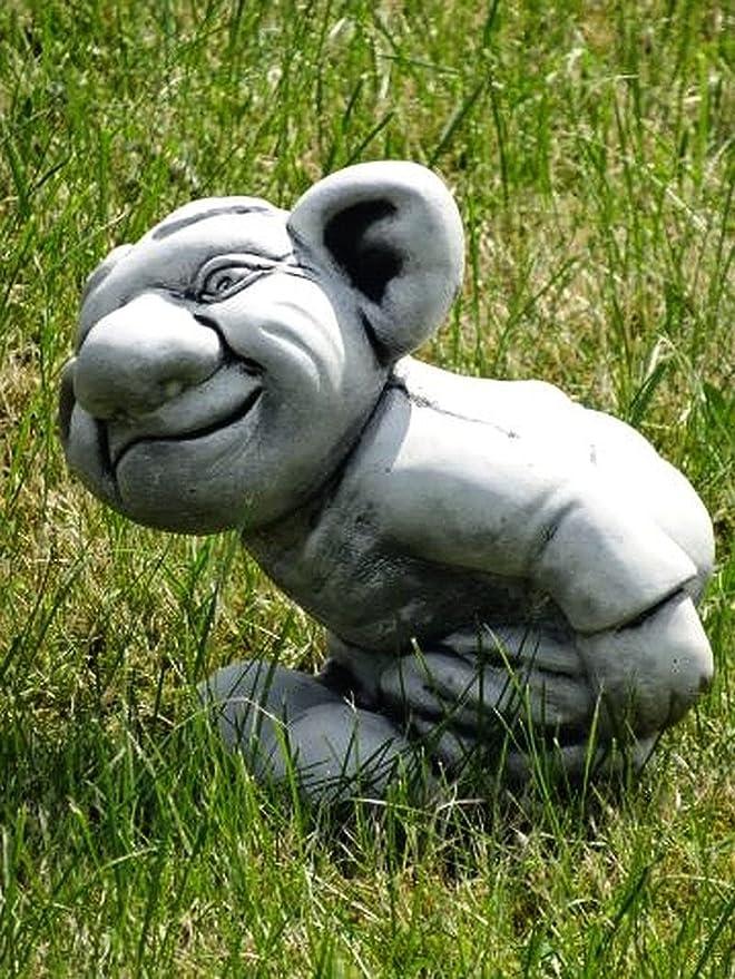 Stinkefinger Troll mit nackten Arsch 25 cm ca. 8 kg