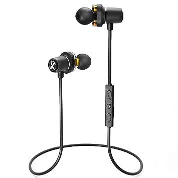 Auriculares Inalámbricos Deportivos Bluetooth 4.2 Magnéticos LiteXim Wireless Auriculares con Micrófono Cancelación de Ruido Cascos Manos Libres In-Ear ...