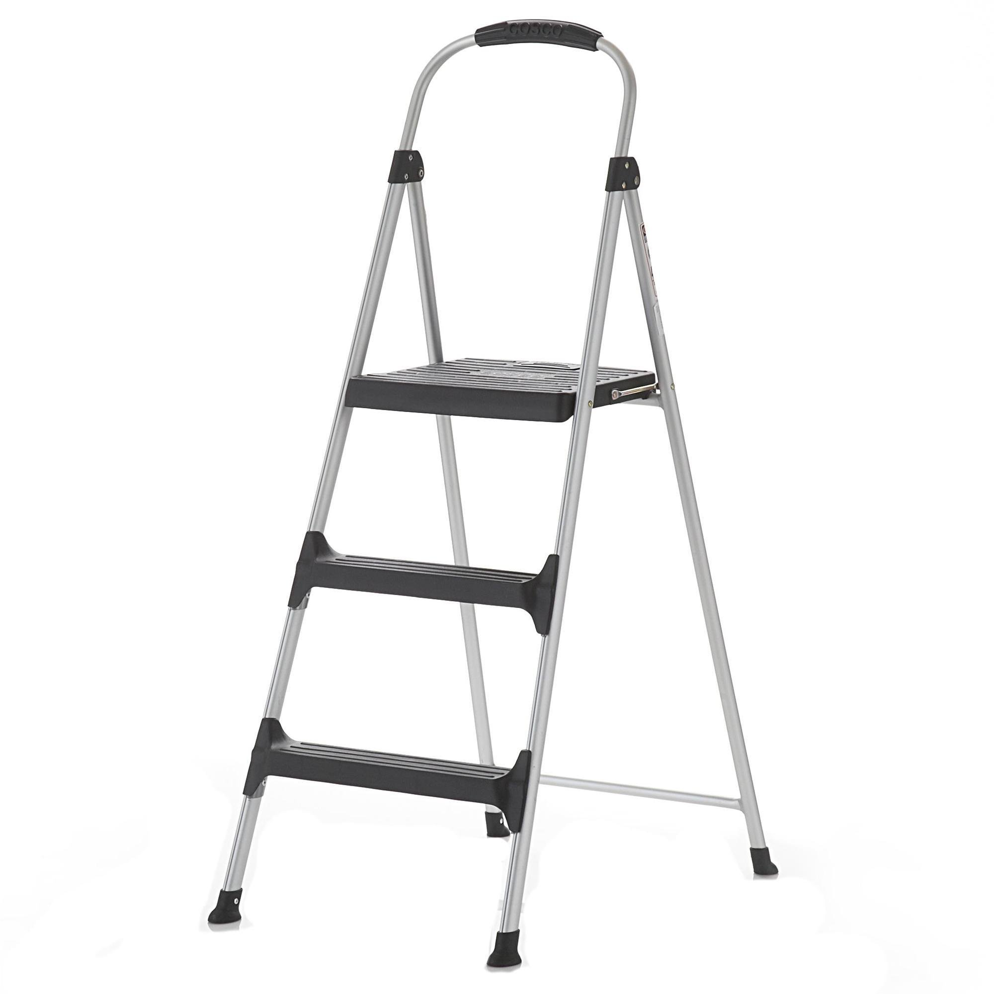 Cosco Signature Step Stool Three-Step Aluminum with Plastic Steps by Cosco (Image #4)