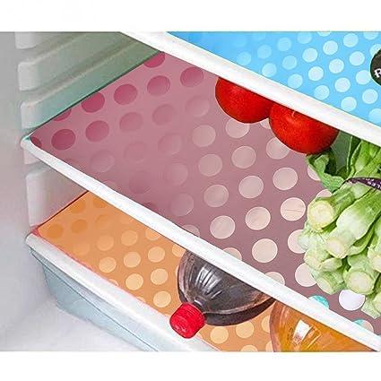 Kuber Industries PVC 6 Piece Fridge Mat Set - Multicolour