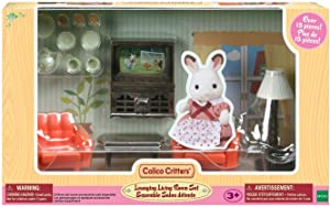 Calico Critters Lounging Living Room Set, Dollhouse Furniture Set