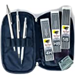 Mechanical Drawing Pencils for Artists - 9 Piece Travel Set