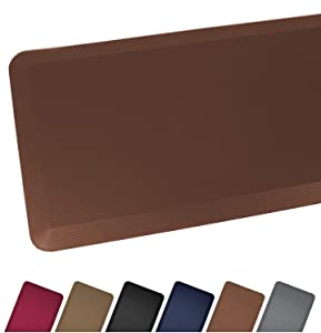 Anti Fatigue Comfort Floor Mat By Sky Mats - Commercial Grade Quality Perfect for Standup Desks, Kitchens, and Garages - Relieves Foot, Knee, and Back Pain, 20x39x3/4-Inch, Chocolate Brown