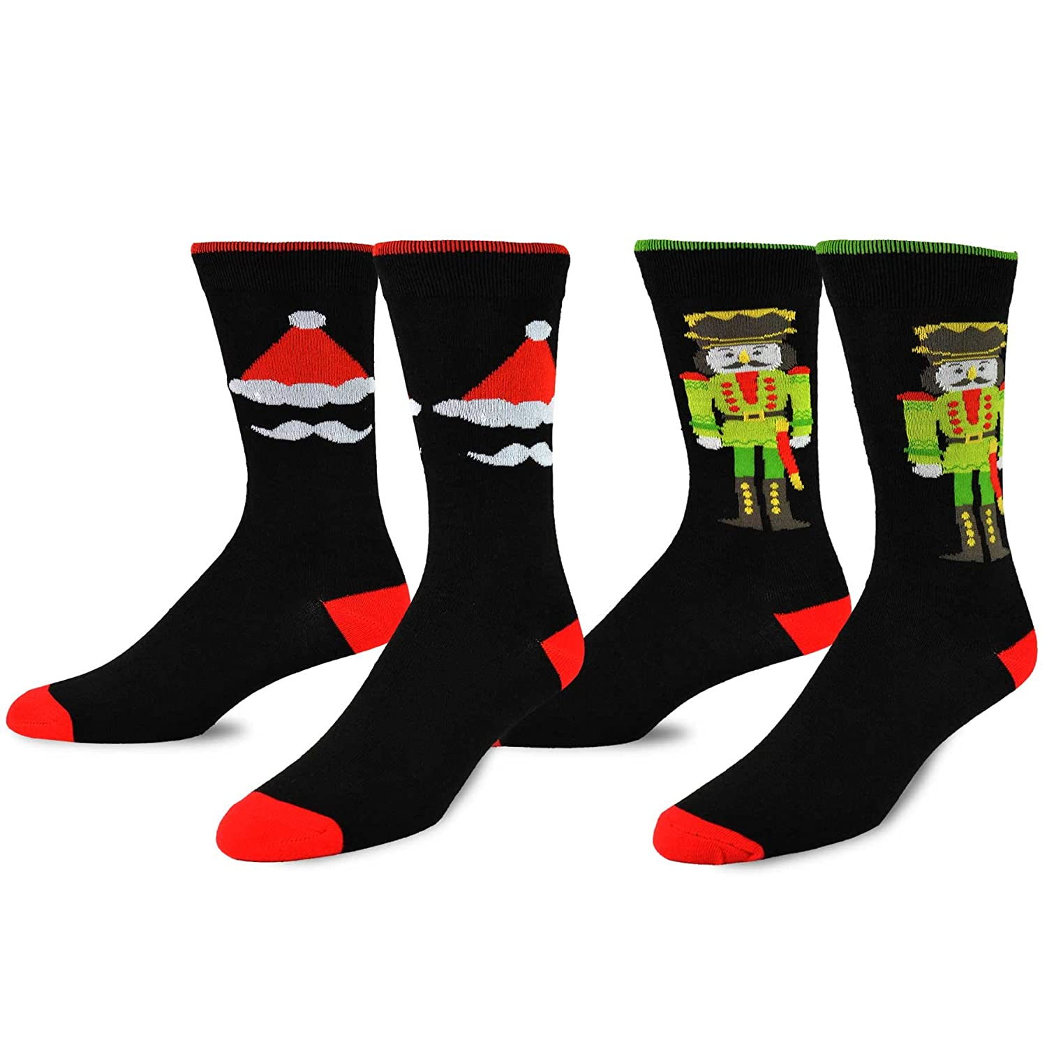 TeeHee Christmas and Holiday Fun Crew Socks for Men 2-Pack Soxnet Inc S/50819-2P07