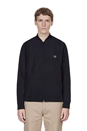 5700f37696943 Fred Perry Mens Bomber Track Jacket