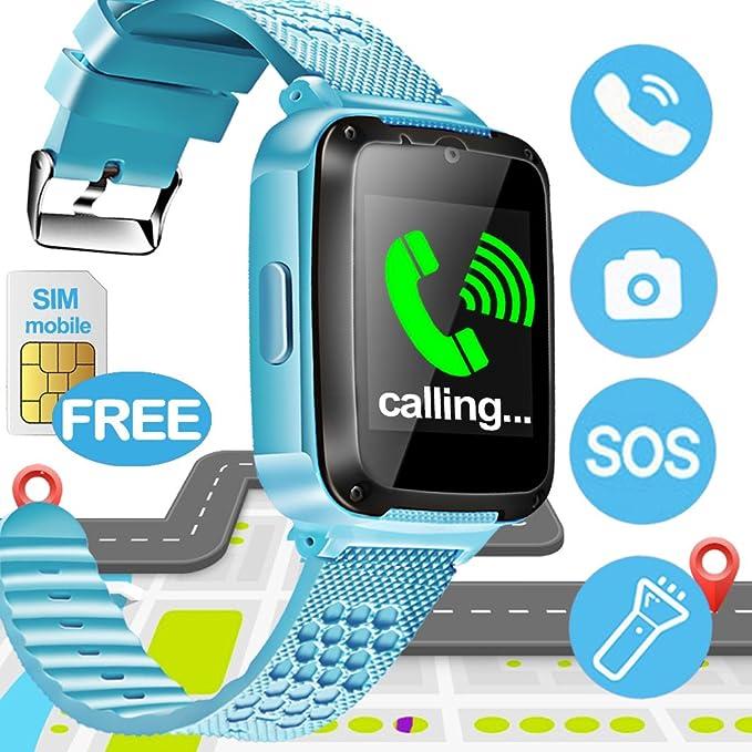 amazon com sixone kid smart watch phone with free sim card for boy