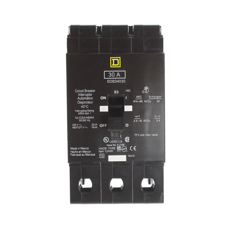 SCHNEIDER ELECTRIC EDB34030 Miniature Circuit Breaker 480Y/277-Volt 30-Amp Box
