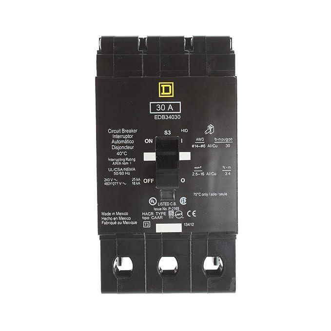 SCHNEIDER ELECTRIC EDB34030 Miniature Circuit Breaker 480Y/277-Volt 30-Amp Electrical Box