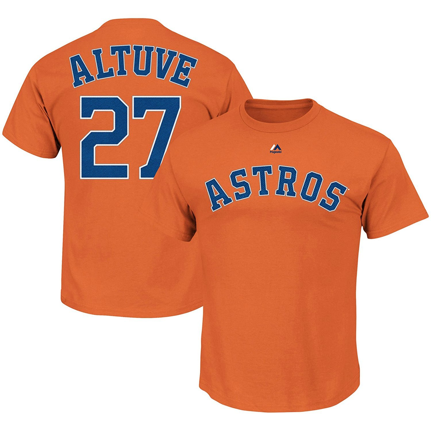 official photos 605bf 7aa3f OuterStuff Jose Altuve Houston Astros #27 Orange Youth Name and Number Shirt