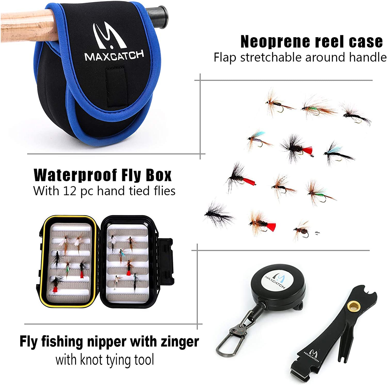 Amazon.com: Combo de pesca Extreme Fly de Maxcatch con mosca ...