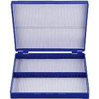 Gaoominy Caja De100 Portaobjetos De Microscopio De Azul