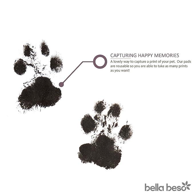 Kit de impresión de huellas de gato y perro, tinta segura para mascotas, bolsa con cordón
