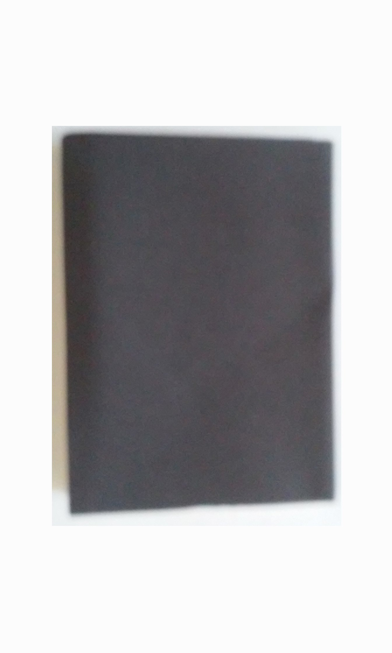Made in Italy Inc. Address Book 4 7/8'' x 6 1/2'' A-Z Tabbed Black Thin Cardboard Cover