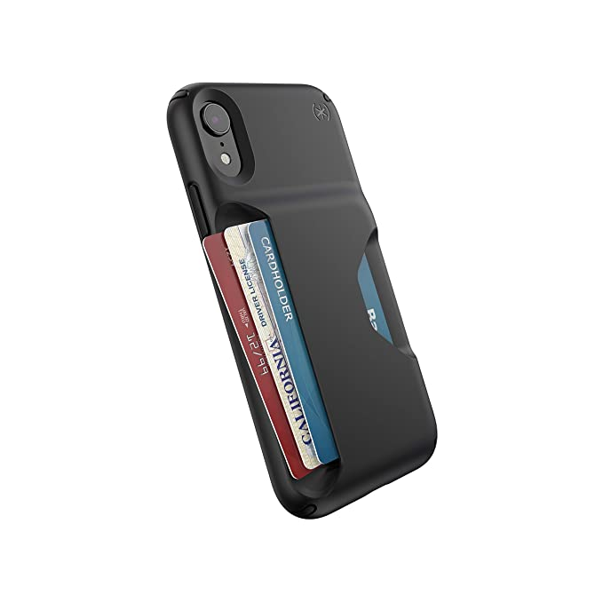 huge selection of 13137 9f516 Speck Products Presidio Wallet iPhone XR Case, Black/Black