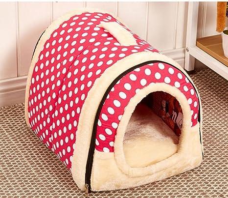 LA VIE 2 en 1 Casa y Sofá para Mascotas Plegable Cueva de Viaje para Gatos ...