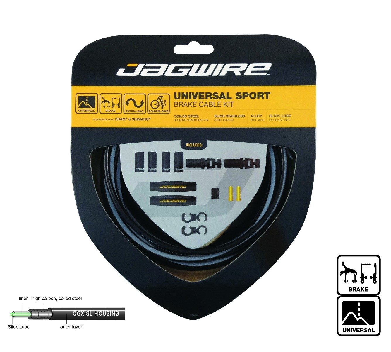 Jagwire Hyper Brake DIY Cable Kit, Ice Gray by Jagwire