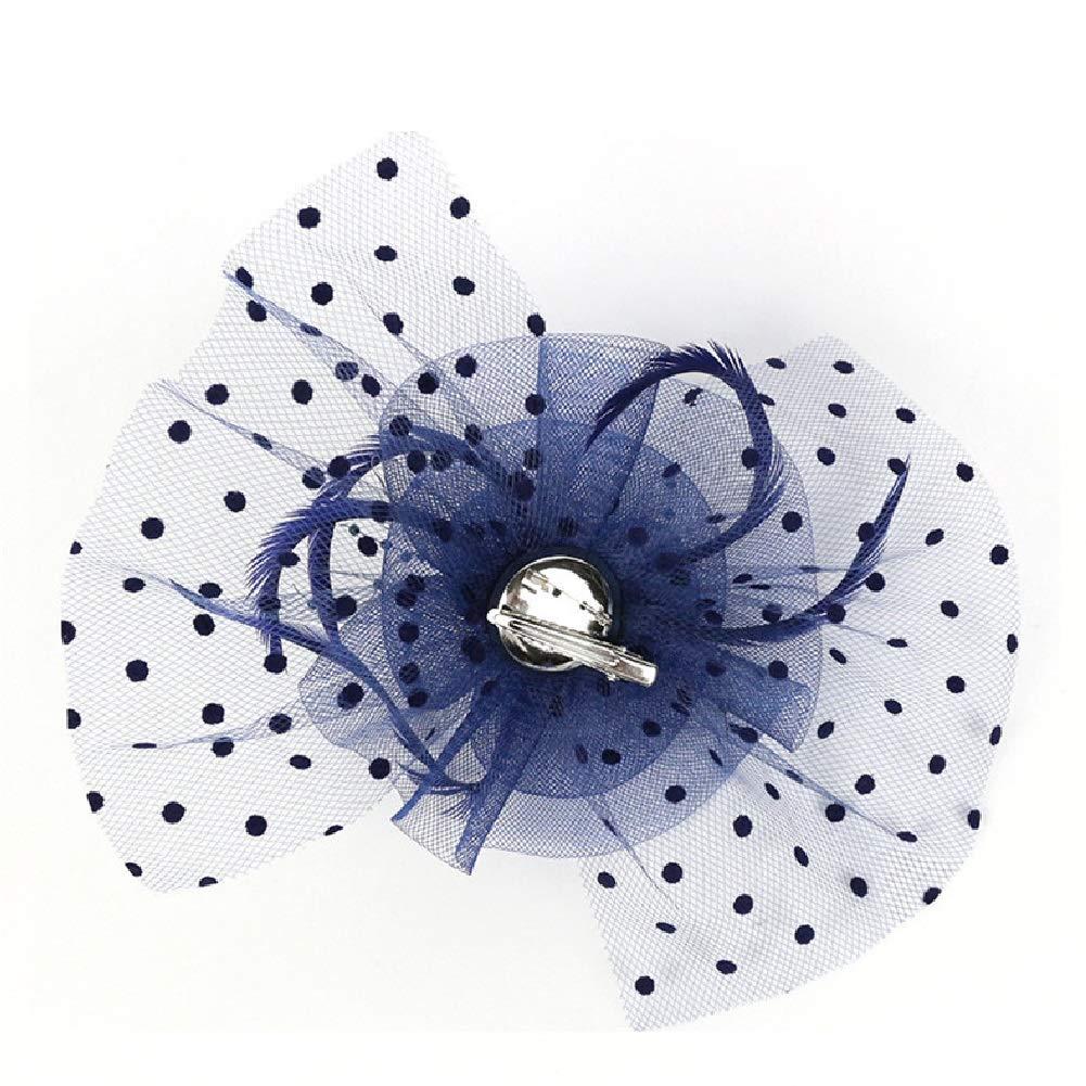 HIDOLL Diadema Fascinator Sombrero Pluma Semicircular Sombrero Tocado Banquete Novia Adornos para el Cabello