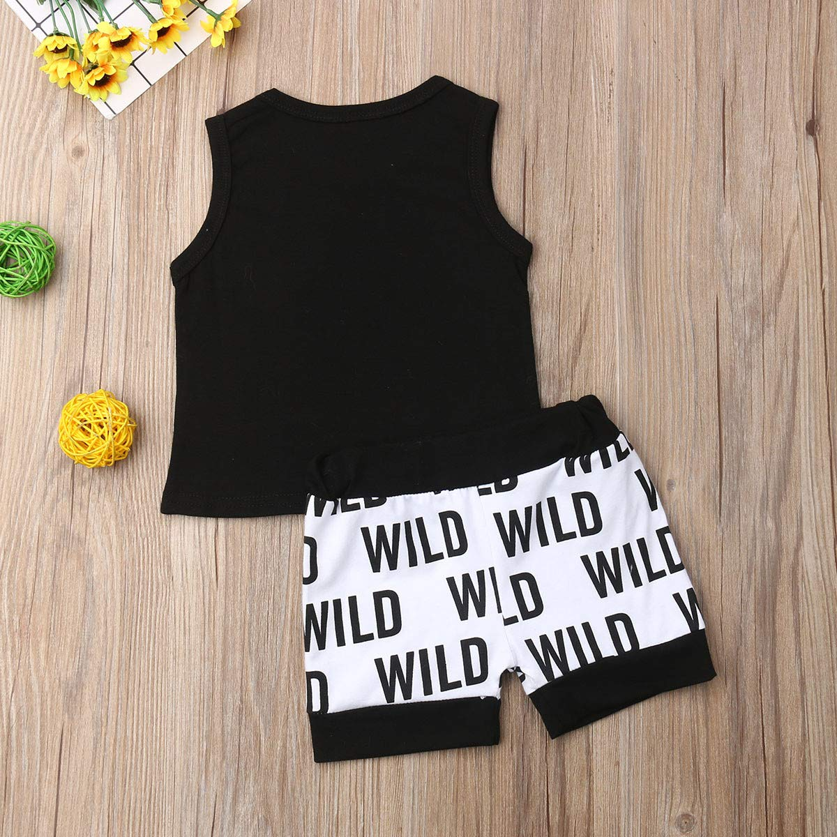 Summer Newborn Infant Boy Sleeveless Letter Printing Cotton Vest Tops Pants Pant 2PCS Outfits Children Clothing Set 0-24M Complete Moon Gift