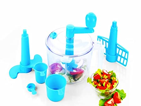 Vivir® Advance Chop And Churn Vegetable Cutter And Dough Maker (Blue) at amazon