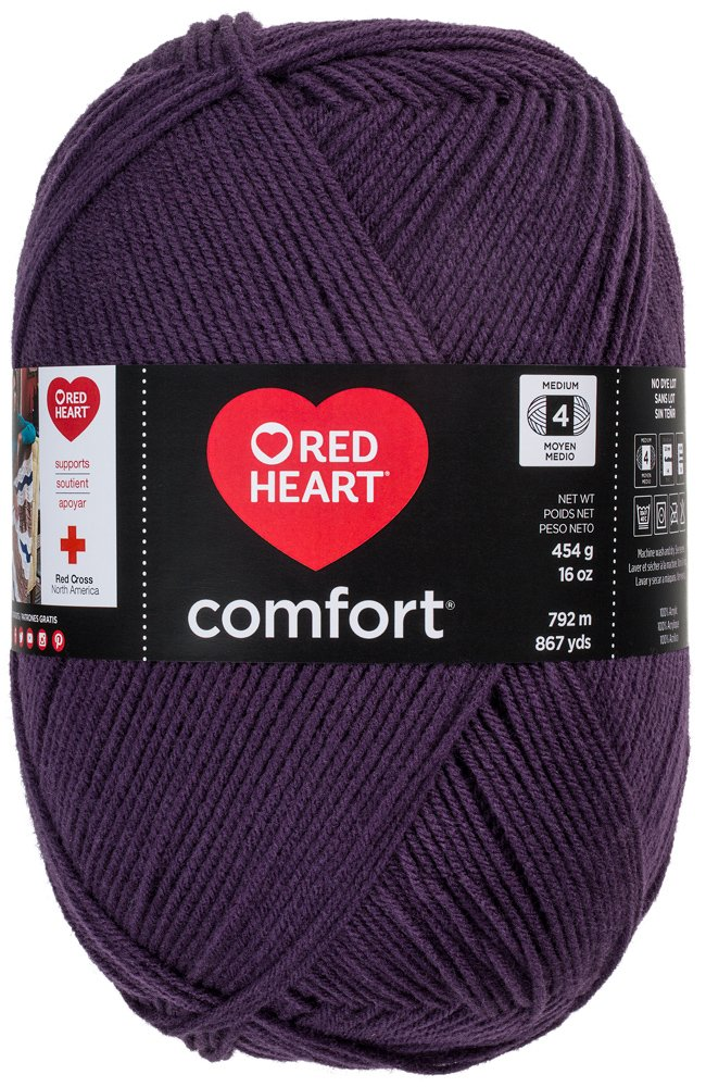 Yarn E707D-3152 Red Heart Comfort Yarn Denim Heather Coats