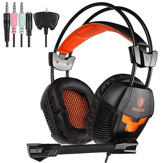47 opinioni per SADES SA 921 Stereo Gaming Headset, leggero sopra l'orecchio Computer Game
