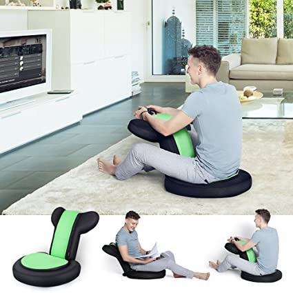 JSVER Armrest Video Gaming Chair Floor for Child and Adult with 14 Positions for Home Video