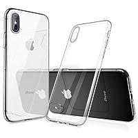 Humixx iPhone XS Hülle, iPhone X Hülle, Silikon TPU Hochwertigem Stoßfest, Anti-Fingerabdruck, Anti-Scratch Hülle Crystal Clear Weich Soft Case für iPhone X/XS (Transparent)