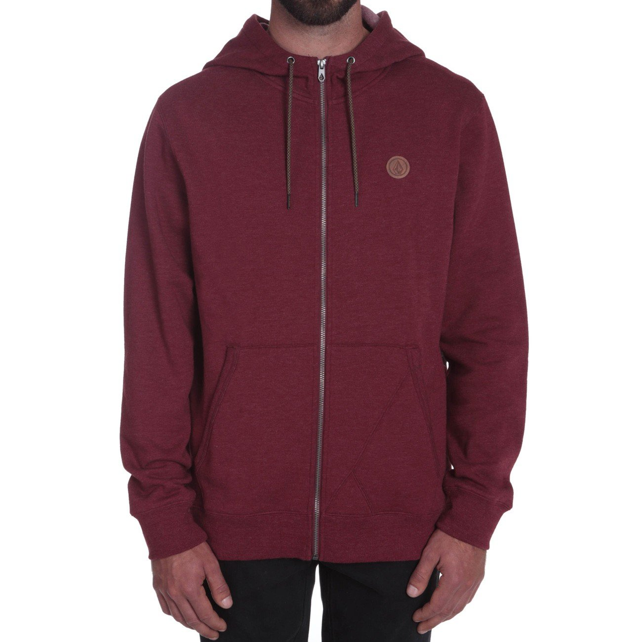 Volcom Zip Hoddie Single Stone Zip Merlot
