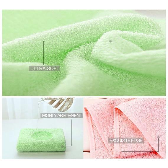 Toallitas para bebés Toallas de baño de bambú Toallitas húmedas reutilizables orgánicas - Hipoalergénico Toalla ultrasuave y absorbente para pieles ...
