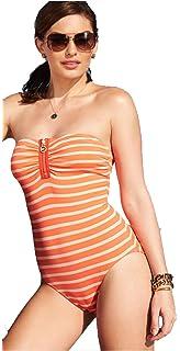 280d9b7af76c1 Michael Kors Michael Swimsuit Women's One Piece Strapless Hot Coral 4