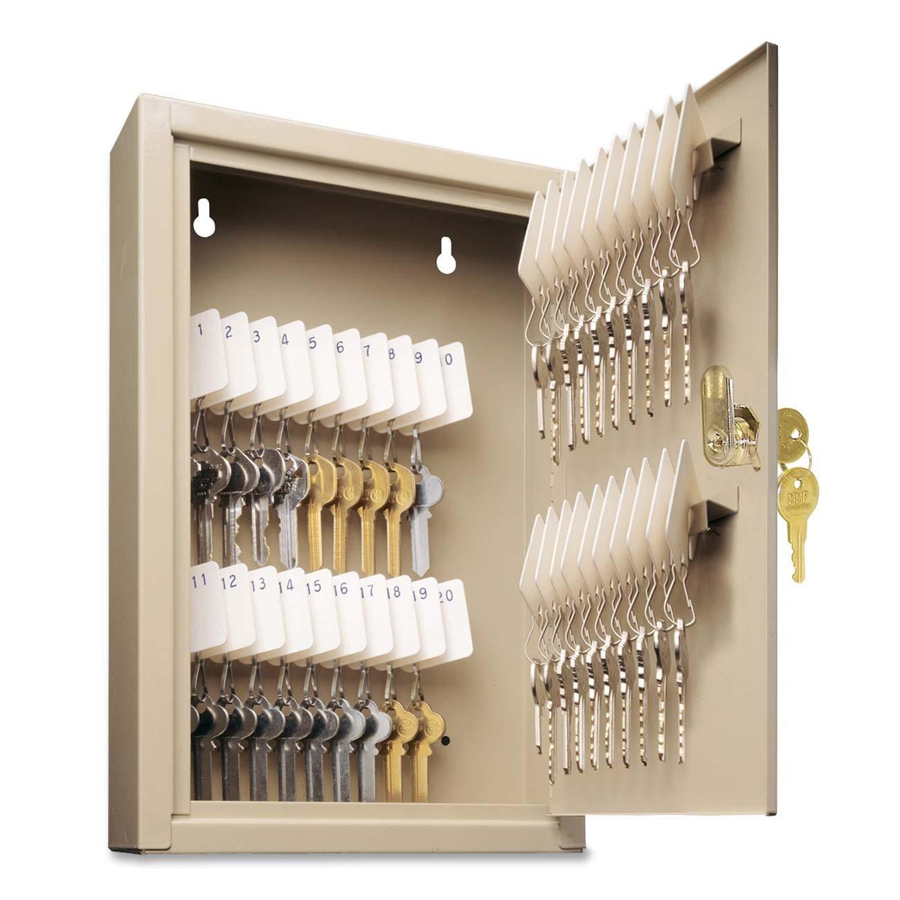 STEELMASTER Unitag Locking Cabinet, 8 x 12.13 x 2.63 Inches, 40-Key Capacity, Sand (201904003)
