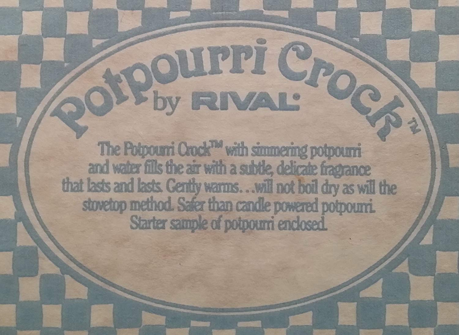 Rival Potpourri Crock Model 3206 - Heart and Checkered Pattern by Rival (Image #2)