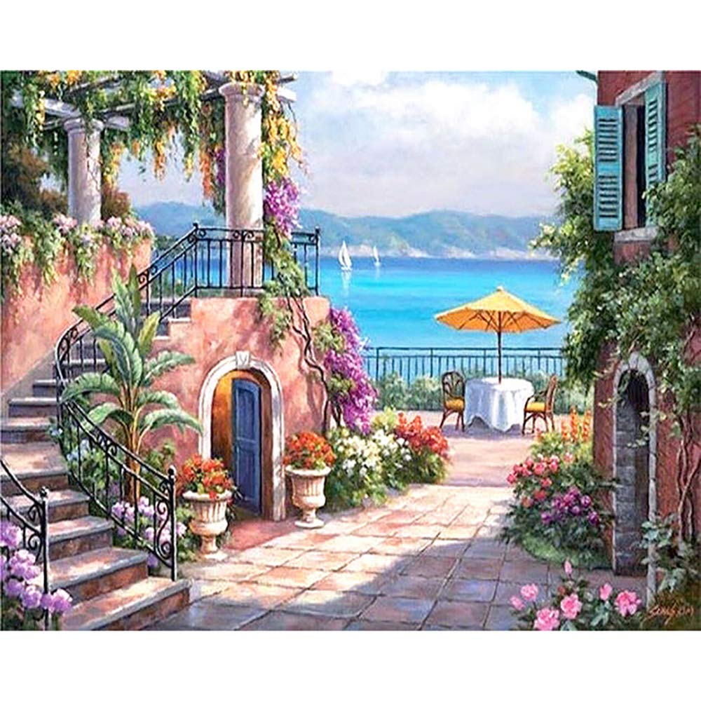 DIY Canvas Oil Painting Gift for Adults Kids Paint by Number Kits Home Decorations- 16 * 20 inch