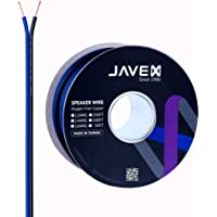 JAVEX Speaker Wire 16-Gauge AWG [Oxygen-Free Copper 99.9%] Cable for Hi-Fi Systems, Amplifiers, AV receivers and Car…