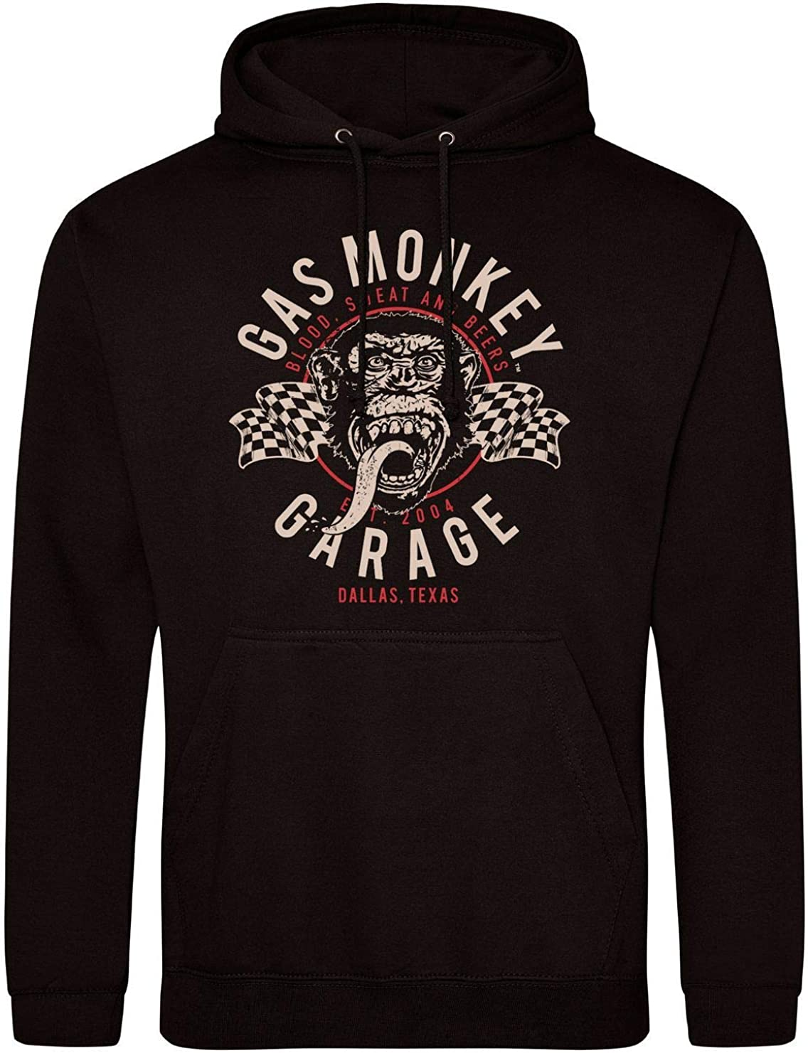 Gas Monkey Garage Hoodie Twin Flags Black Bekleidung