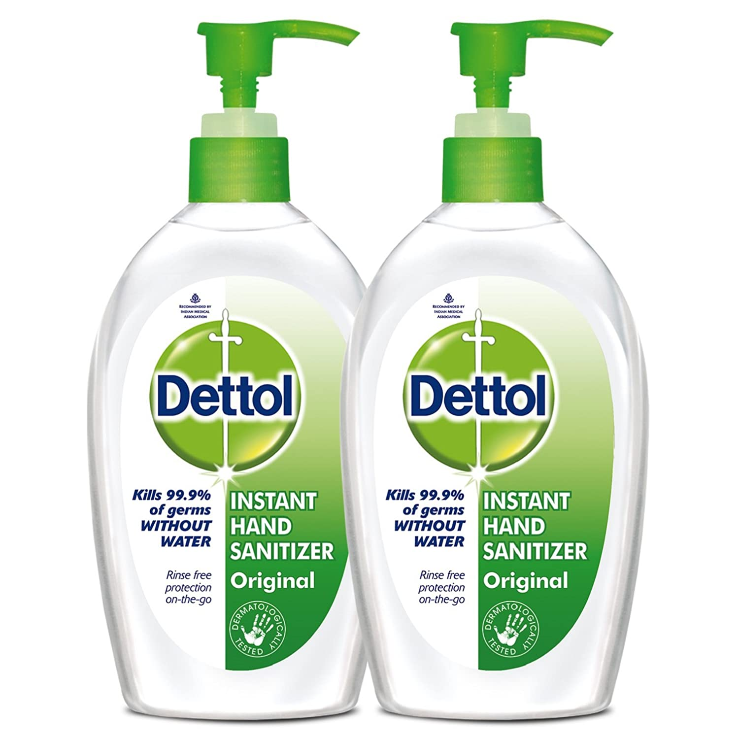 Dettol Original Instant Hand Sanitizer - 200 ml (Pack of 2)