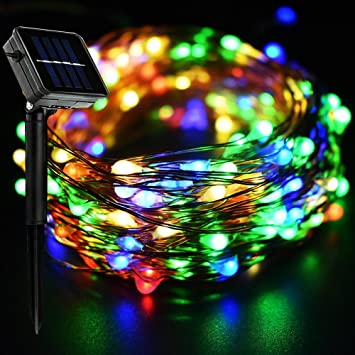 E-Goal Solarbetriebene String Lights 20Meter 200 Micro Starry LEDs ...