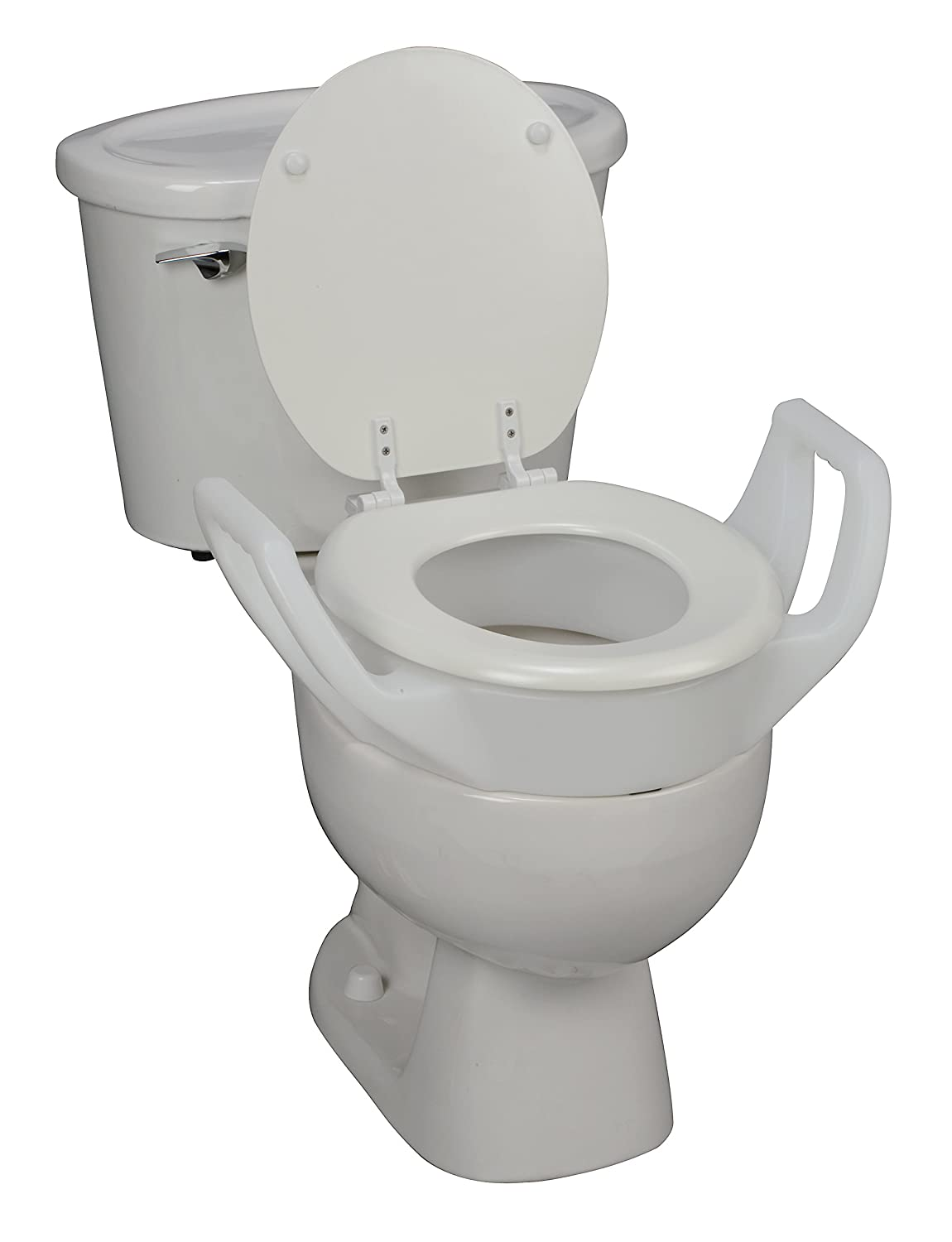 Amazon.com: DMI Raised Elevated Toilet Seat Riser with Arms and ...
