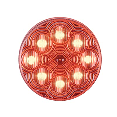 "Maxxima M16280RCL Red 2-1/2"" Round LED Clear Lens Clearance Marker Light: Automotive"