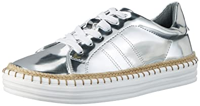 La Strada 962422 Womens Low-Top Sneakers Silber (Silver) 39 EU